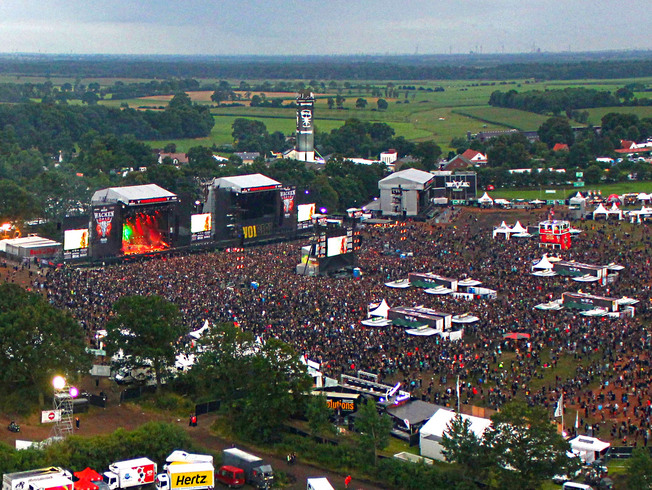 "Aerial overwie of the ""Wacken Open Air Holy Ground"""